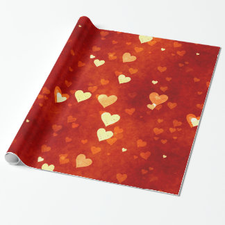 Send It With Love - Heart Design Wrapping Paper