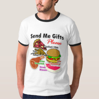 """Send Me Gifts for My Cafe"" Ringer T-Shirt"