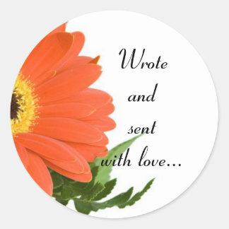 Send with love envelope sticker