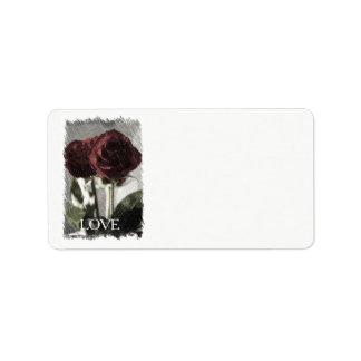 Send your love address label