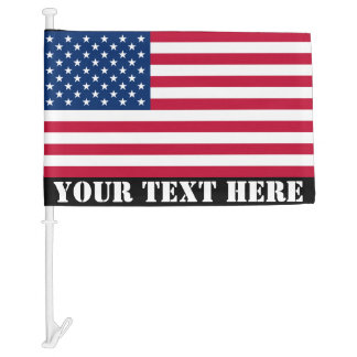 Send Your Own: Patriotic Message American Flag Car Flag