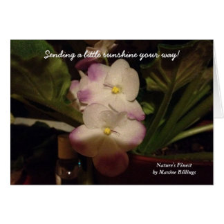 """SENDING A LITTLE SUNSHINE YOUR WAY"" GREETING CARD"