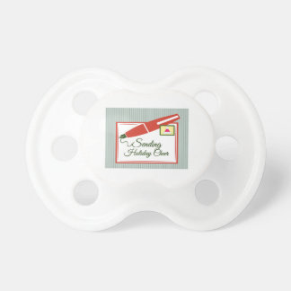 Sending Holiday Cheer Baby Pacifiers
