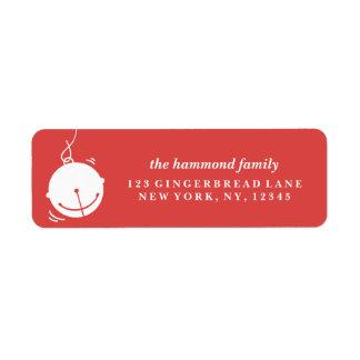 Sending Holiday Cheer Return Address Label
