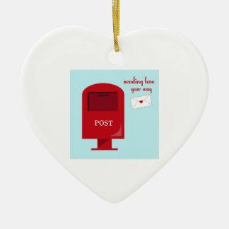 Sending Love Christmas Ornaments