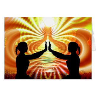 Sending Love & Light Your Way Meditation Card