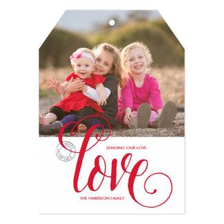 Sending Love Tag | Valentine's Day Photo Card 13 Cm X 18 Cm Invitation Card