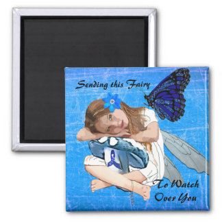 Sending this ME/CFS Fairy to watch over you! Square Magnet