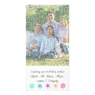 Sending You Holiday Wishes Family Photo Card