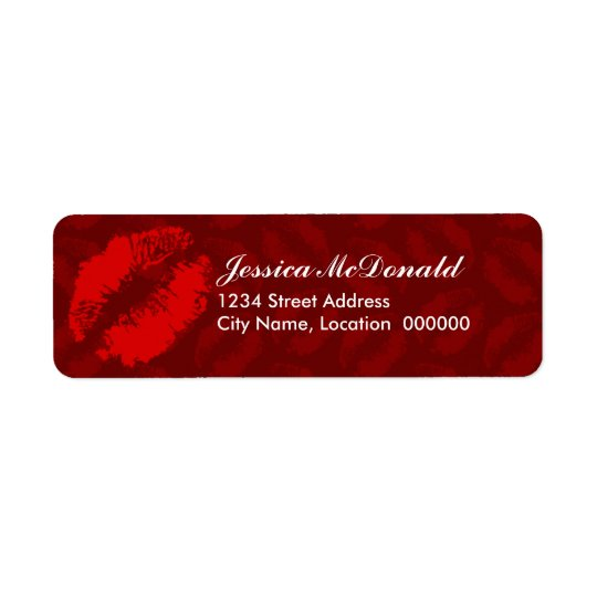 Sending You Kisses Return Address Label