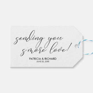 Sending You S'more Love Chic Wedding Favors Tag