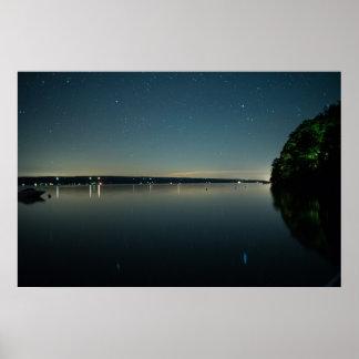 Seneca Lake at Night Poster