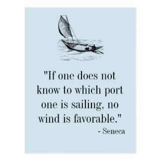 Seneca Quote Postcard