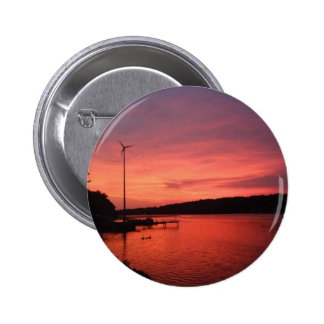 Seneca River Sunset Button