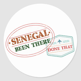 Senegal Been There Done That Classic Round Sticker
