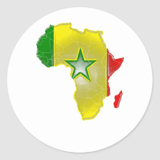 Senegal Classic Round Sticker