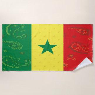 Senegal Flag Beach Towel