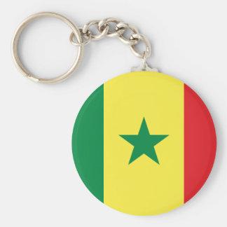 Senegal Flag Button Keychain