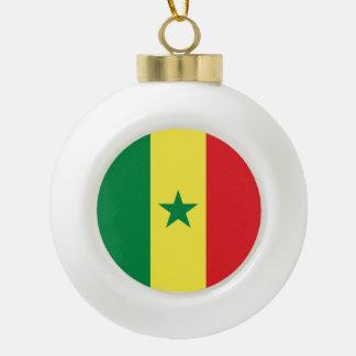 Senegal Flag Ceramic Ball Christmas Ornament