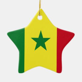 Senegal flag ceramic ornament