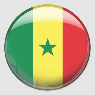 Senegal Flag Classic Round Sticker