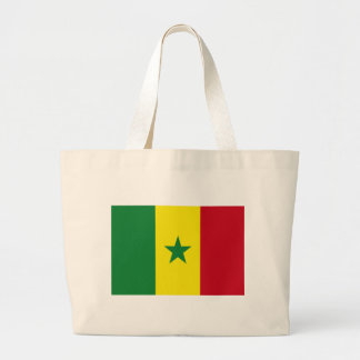 Senegal flag large tote bag