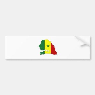 Senegal Flag Map full size Bumper Sticker