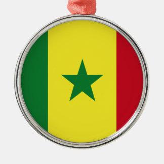 Senegal flag metal ornament