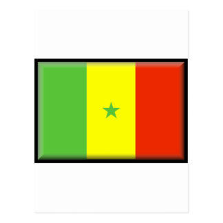 Senegal Flag Postcard