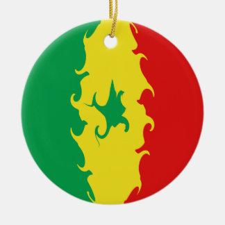 Senegal Gnarly Flag Christmas Tree Ornament