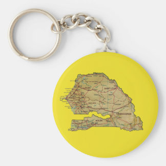 Senegal Map Keychain