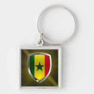 Senegal Metallic Emblem Key Ring