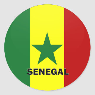 Senegal Roundel quality Flag Classic Round Sticker