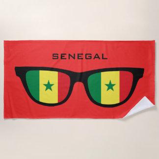 SENEGAL Shades custom text beach towel