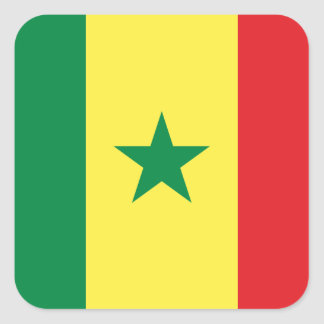 Senegal Square Sticker
