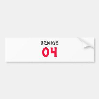 Senior 04 bumper stickers