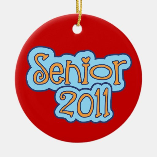 Senior 2011 - front only christmas tree ornaments