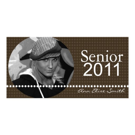 Senior 2011 Personalized Announcement Photocard Picture Card