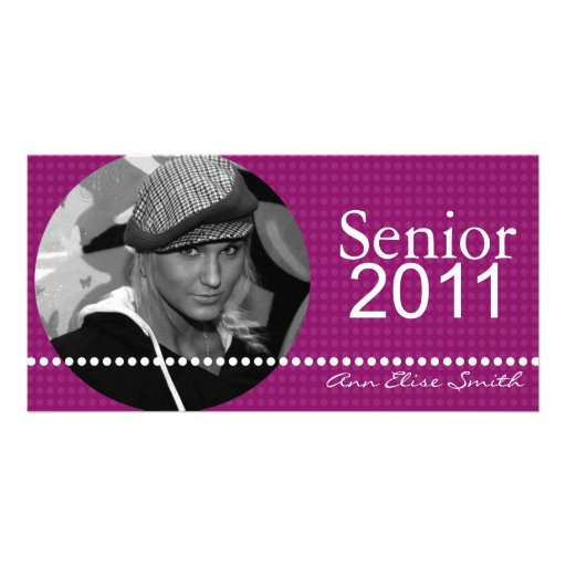 Senior 2011 Personalized Announcement Photocard Photo Greeting Card