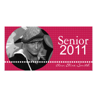 Senior 2011 Personalized Announcement Photocard Photo Card