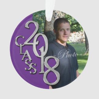 Senior 2018 Purple Graduation Photo Ornament