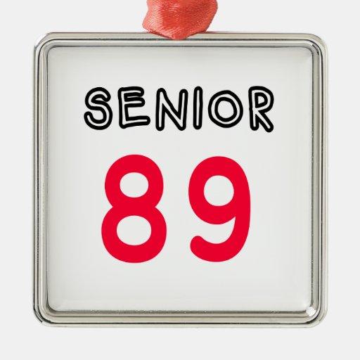 Senior 89 christmas ornament