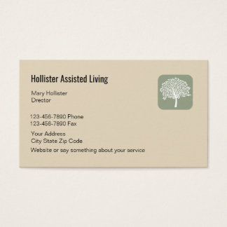 Senior Assisted Living Design Business Card