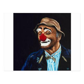 Senior Billy The Clown Postcard