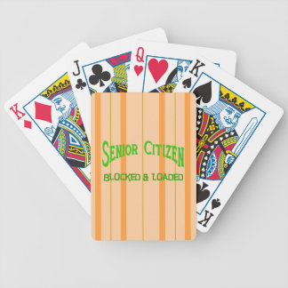 Senior Citizen Bicycle Playing Cards