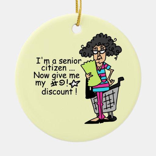 Senior Citizen Discount Ornament