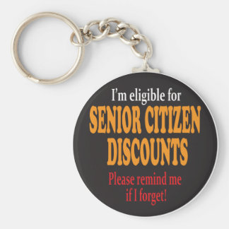 Senior Citizen Discount Moments Key Ring