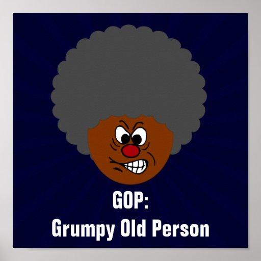 Senior Citizen Voters Vote GOP: Grumpy Old People Print