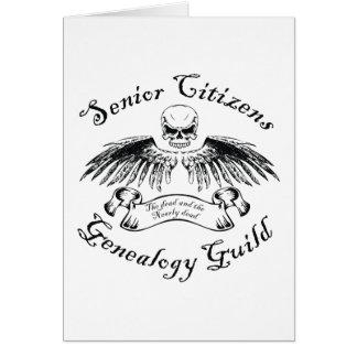 Senior Citizens Genealogy Guild Birthday Card