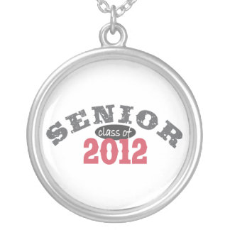 Senior Class of 2012 Silver Plated Necklace